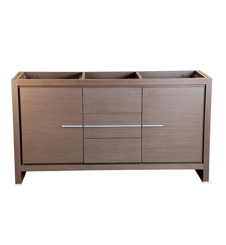 Fresca FCB8119GO Allier 60 Gray Oak Modern Double Sink Bathroom Cabinet