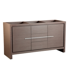 "Fresca FCB8119GO Allier 60"" Gray Oak Modern Double Sink Bathroom Cabinet"