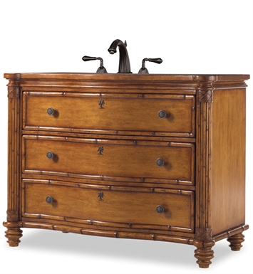 "Cole+Co 11.24.275548.33 [INACTIVE]Bridgetown 48"" Antique Bathroom Vanity with Countertop from Designer Series Collection"