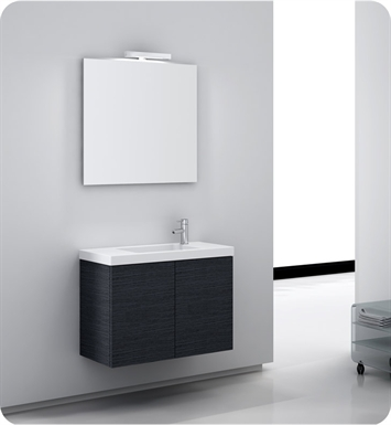 Nameeks HD02-GO Iotti Modern Bathroom Vanity Set from Happy Day Collection With Finish: Gray Oak