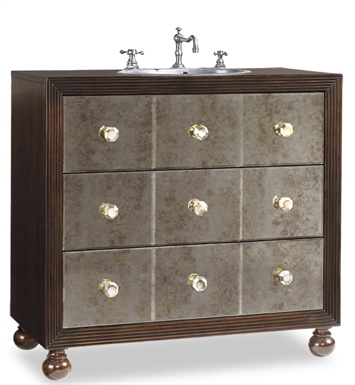 "Cole+Co Celebrity 36"" Antique Bathroom Vanity with Countertop from Designer Series Collection"