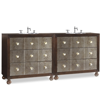 "Cole+Co Celebrity 72"" Antique Double Sink Bathroom Vanity with Countertop from Designer Series Collection"