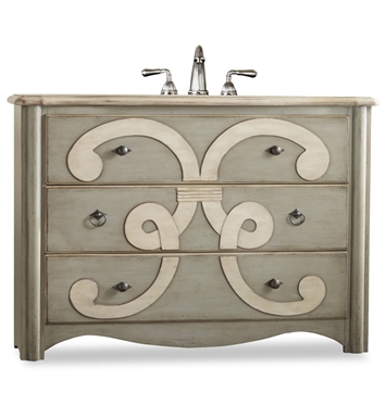 "Cole+Co 11.22.275548.37 [INACTIVE]Chamberlain 48"" Antique Bathroom Vanity with Countertop from Designer Series Collection"