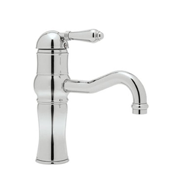 "Rohl A3671LP-APC Acqui Single Lever 9"" Above Counter Lavatory Faucet With Finish: Polished Chrome And Handles: Porcelain Lever Handles"