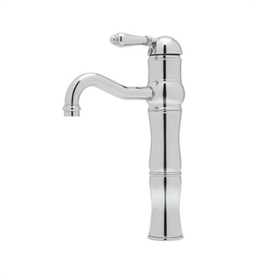 "Rohl A3672LP-APC Acqui Single Lever 13"" Above Counter Lavatory Faucet With Finish: Polished Chrome And Handles: Porcelain Lever Handles"