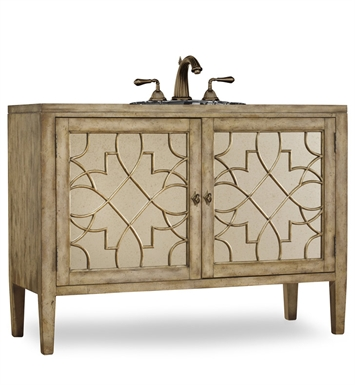 "Cole+Co 11.22.275552.13 [INACTIVE]Lindsay 52"" Antique Bathroom Vanity with Countertop from Designer Series Collection"