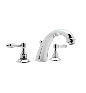 Rohl A2154LP-PN San Julio 3-Hole Deck Mount C-Spout Tub Filler With Finish: Polished Nickel And Handles: Porcelain Lever Handles