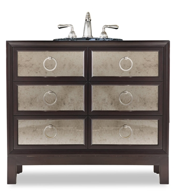 "Cole+Co 11.22.275536.13 [INACTIVE]Reagan 36"" Antique Bathroom Vanity with Countertop from Designer Series Collection"