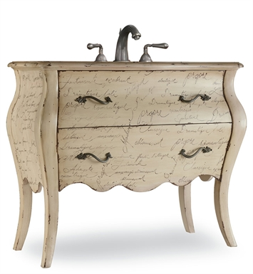 "Cole+Co 11.22.275540.47 [INACTIVE]Romantique 41"" Antique Bathroom Vanity with Countertop from Designer Series Collection"