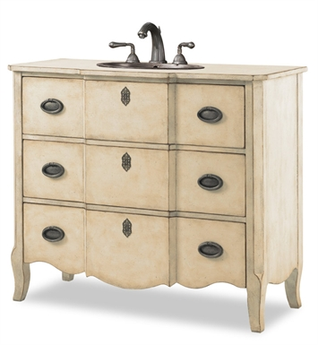 "Cole+Co 11.24.275543.26 Wayfarer 43"" Antique Linen Bathroom Vanity with Countertop from Designer Series Collection"