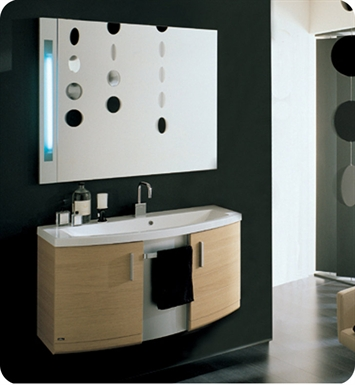 Nameeks ND2-NO Iotti Modern Bathroom Vanity Set from Dune Collection With Finish: Natural Oak