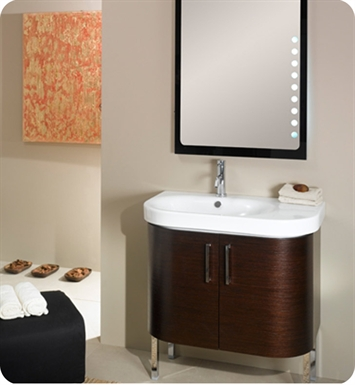Nameeks NR2-TK Iotti Modern Bathroom Vanity Set from Rondo Collection With Finish: Teak