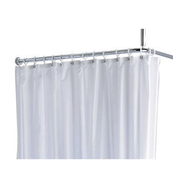 Keuco 34948000110 Plan Shower Curtain Maxxi with 5 Eyelets in White
