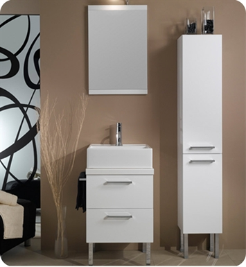 Nameeks A12-W Iotti Modern Bathroom Vanity Set from Aurora Collection With Finish: Wenge