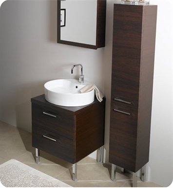 Nameeks A13-GO Iotti Modern Bathroom Vanity Set from Aurora Collection With Finish: Gray Oak