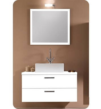 Nameeks A14-GO Iotti Modern Bathroom Vanity Set from Aurora Collection With Finish: Gray Oak