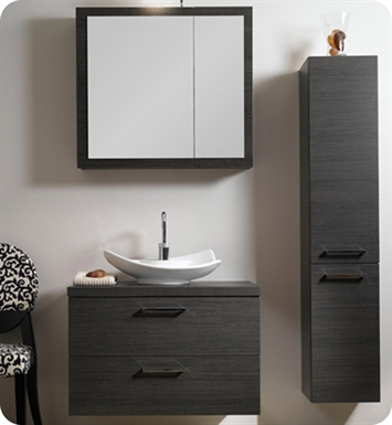 Nameeks A15-GW Iotti Modern Bathroom Vanity Set from Aurora Collection With Finish: Glossy White