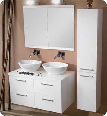Nameeks A16-GO Iotti Modern Bathroom Vanity Set from Aurora Collection With Finish: Gray Oak