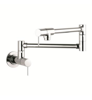 "Hansgrohe 10859001 Axor Starck 27"" Double Handle Wall Mount Pot Filler with Aerated Spray With Finish: Chrome"