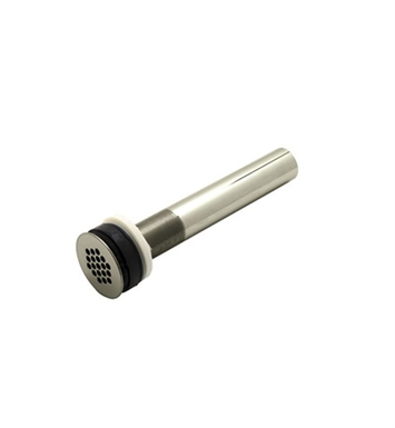 "Rohl 6442STN Non Slotted Grid Drain With 8"" Tailpiece in Satin Nickel"