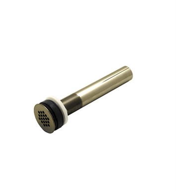 "Rohl 6442TCB Non Slotted Grid Drain With 8"" Tailpiece in Tuscan Brass"