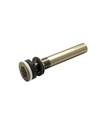 "Rohl 7444TCB Slotted Grid Drain With 10"" Tailpiece in Tuscan Brass"