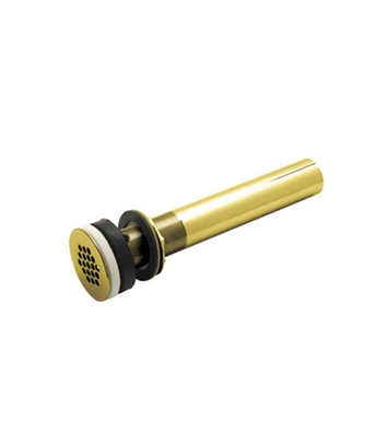 "Rohl 7444IB Slotted Grid Drain With 10"" Tailpiece in Inca Brass"