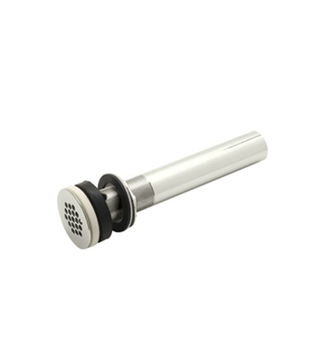 "Rohl 7444PN Slotted Grid Drain With 10"" Tailpiece in Polished Nickel"
