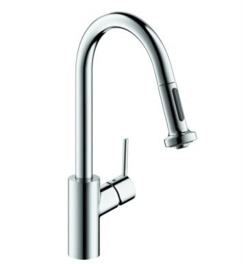 "Hansgrohe 14877 Talis S 8 3/4"" Single Handle Deck Mounted 2-Spray High-Arc Pull-Down Kitchen Faucet"