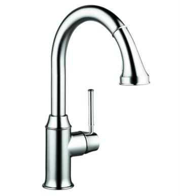 "Hansgrohe 04215800 Talis C 9 7/8"" Single Handle Deck Mounted 2-Spray High-Arc Pull-Down Kitchen Faucet With Finish: Steel Optik"