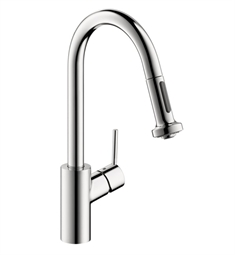 Hansgrohe Talis S 2-Spray HighArc Pull-Down Kitchen Faucet