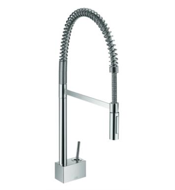 "Hansgrohe 10820001 Axor Starck 11 7/8"" Single Handle Deck Mounted Semi-Pro 2-Spray Pull-Down Kitchen Faucet in Chrome"
