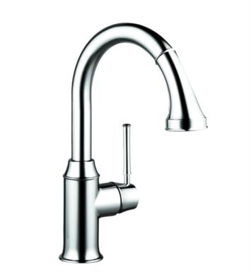 "Hansgrohe 04216830 Talis C 8 3/4"" Single Handle Deck Mounted 2-Spray Pull-Down Prep Kitchen Faucet With Finish: Polished Nickel"