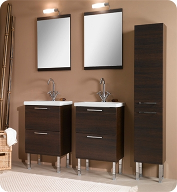 Nameeks L11-TK Iotti Modern Bathroom Vanity Set from Luna Collection With Finish: Teak