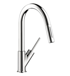 Hansgrohe 10824 Axor Starck 2-Spray Prep Pull-Down Kitchen Faucet