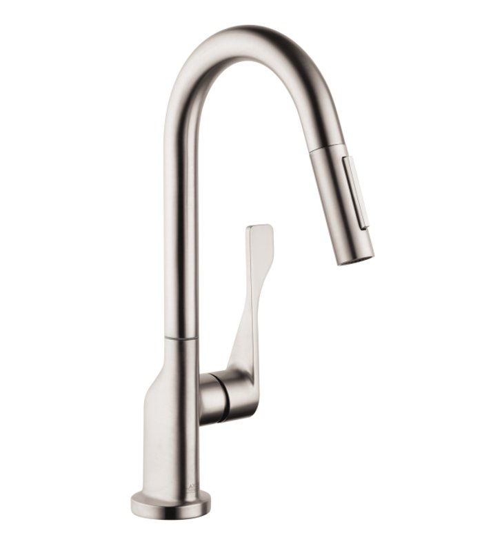 Hansgrohe Kitchen Faucet Installation Manual : Hansgrohe axor citterio spray prep pull down kitchen faucet