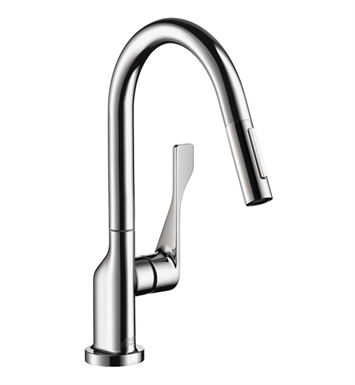 Hansgrohe 39836001 Axor Citterio 2-Spray Prep Pull-Down Kitchen Faucet With Finish: Chrome