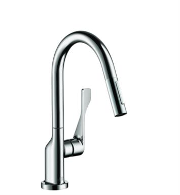 "Hansgrohe 39836001 Axor Citterio 7 7/8"" Single Handle Deck Mounted 2-Spray High-Arc Pull-Down Kitchen Faucet With Finish: Chrome"
