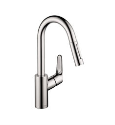 Hansgrohe Focus 2-Spray HighArc Prep Pull-Down Kitchen Faucet
