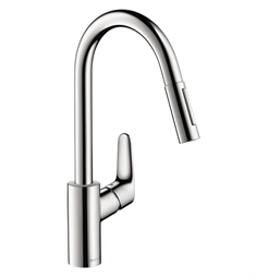 Hansgrohe Focus 2-Spray HighArc Pull-Down Kitchen Faucet