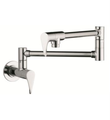 "Hansgrohe 39834801 Axor Citterio 27"" Double Handle Wall Mount Pot Filler with Aerated Spray With Finish: Steel Optik"