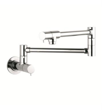 "Hansgrohe 04057860 Talis S 27"" Double Handle Wall Mount Pot Filler with Aerated Spray With Finish: Steel Optik"
