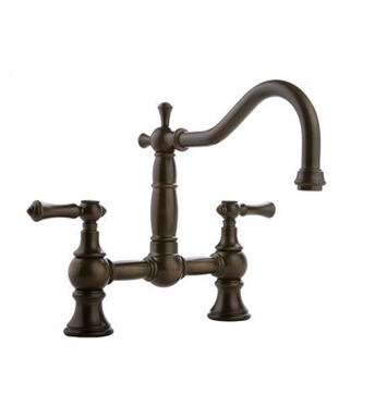 Graff G-4840-LM15-SN Canterbury Bridge Kitchen Faucet with Metal Lever Handles With Finish: Steelnox (Satin Nickel)
