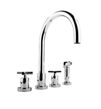 "Graff G-4320-C4 Infinity 8 3/4"" Double Handle Widespread/Deck Mounted Kitchen Faucet with Side Spray"