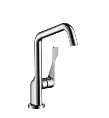 "Hansgrohe 39850001 Axor Citterio 8"" Single Handle Deck Mounted Aerated Spray High-Arc Pull-Down Kitchen Faucet With Finish: Chrome"