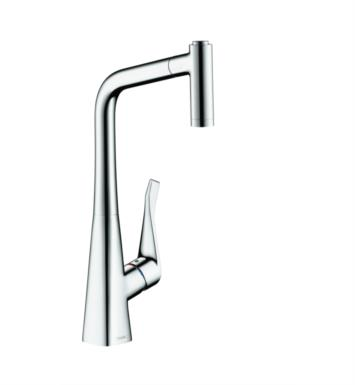 "Hansgrohe 04508 Metris 7 3/8"" Single Handle Deck Mounted 2-Spray Pull-Out Prep Kitchen Faucet"