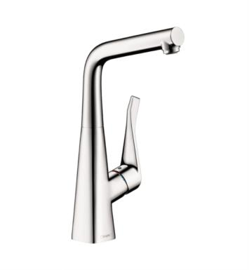 "Hansgrohe 04509 Metris 5 5/8"" Single Handle Deck Mounted Aerated Spray High-Arc Bar Kitchen Faucet"