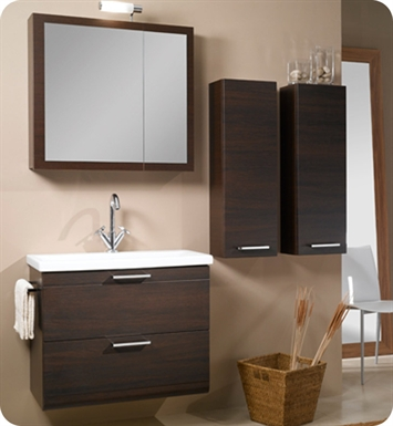 Nameeks L13-GO Iotti Modern Bathroom Vanity Set from Luna Collection With Finish: Gray Oak