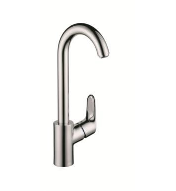"Hansgrohe 04507 Focus 5 1/2"" Single Handle Deck Mounted Aerated Spray High-Arc Bar Faucet"