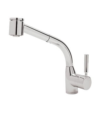 Rohl R7923-STN Modern Lux Side Lever Pull-Out Kitchen Faucet With Finish: Satin Nickel